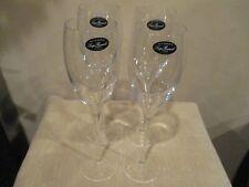 "Luigi Bormioli Accademia  10 oz. Wine Glasses  10 1/4"" Signed (4)"