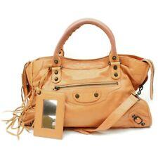 BLENCIAGA Hand Bag Classic City Oranges Leather 704551