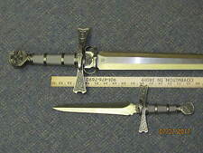 Pendragon Sword Legends of Steel Celtic Crusades Matching Dagger UC1275; UC1387