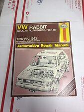 Haynes  repair manual 1975 1981 Volkswagon VW Golf Jetta Pick up