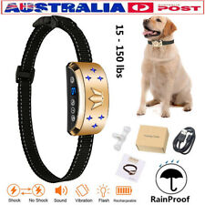 Rechargeable Anti  Bark Shock Dog Trainer Stop Barking Pet Training Collars AU