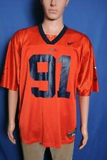 Virginia Cavaliers NIKE football jersey #91 orange nylon mesh L