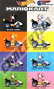Hot Wheels Mario Kart Yoshi Mystery Egg - Complete Set Of 8 - Limited Edition