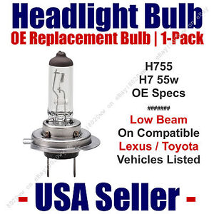 Headlight Bulb Low Beam OE Replacement For Select Toyota & Lexus H7 55
