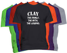CLAY Last Name T Shirt Custom Name T Shirt Family Reunion Family Name Tee