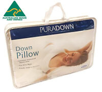 Puradown Australian Made 50% Duck Down Standard & King Size Pillows