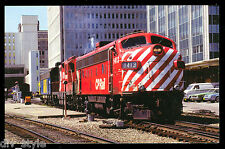 Canadian Pacific FP9 Passenger Diesel locomotive #1413 railroad train postcard