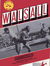 Walsall v Bournemouth November 4 1986 - Official Matchday Football Programme