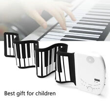 Flexible Piano Keyboard Soft 61 Keys Electric Wire Roll Up Portable USB/MIDI