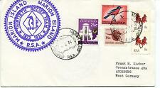 1973 Marion Island MV RSA Thirtieth Relief Team Polar Antarctic Cover