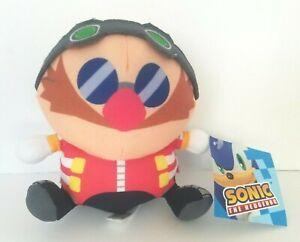 "New Sonic the Hedgehog Dr. Eggman Plush 5"" Stuffed Figure SEGA Toy Factory"