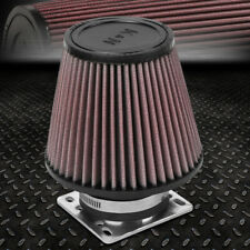 "K&N RE-3580 CLAMP-ON CONE COTTON GAUZE 3""ID AIR INTAKE FILTER+MAF SENSOR ADAPTER"