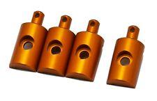 PrecisionGeek Replacement Lunchbox Aluminium Orange Body Mounts 4Pcs fits Tamiya