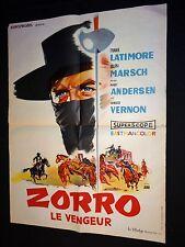 ZORRO le vengeur ! affiche cinema 1961