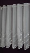 Scheibengardine nach Maß Stick Lamellen Panneau Voile Kurzstore Höhe 60 cm Weiß