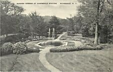 A View Of The Sunken Garden At Hartsdale Station, Scarsdale, New York NY