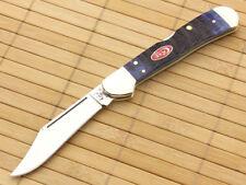 Couteau Case Copperlock Navy Blue Bone Lame Vanadium Manche Os Made USA CA07064