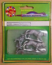Grenadier Fantasy Warriors - 51021 Amazon Big Cat Riders (MIB)
