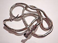 "FLEXIBLE SNAKE NECKLACE 36"" bendable asp serpent bracelet armband fidget toy 6W"