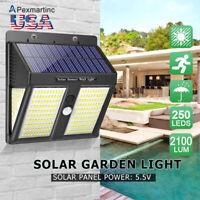Outdoor 250 LED Solar Power PIR Motion Sensor Wall Light Waterproof Garden Lamp