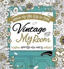 Vintage My Room Coloring Book For Relax Heal Hobby Art Deco