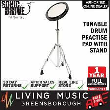 "NEW Sonic Drive 8"" Tunable Drum Practise Pad with Stand for Beginner Quiet Play"