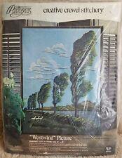 Vintage Paragon Needlecraft WESTWIND Picture Crewel Embroidery Stitchery Kit