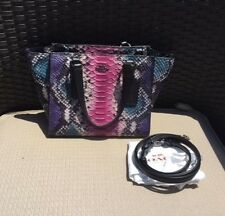 Authentic Coach 33723 Python Embossed Leather Crossbody Multicolor Mini Bag