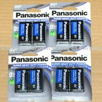 8x Panasonic 9 Volts Battery 9V Block Super Heavy Duty Carbon Zinc Batteries E67
