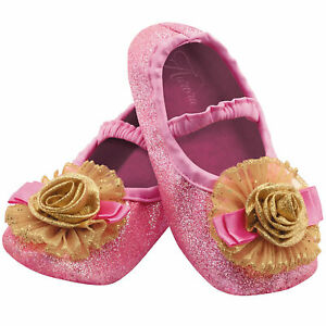 Disneys Toddler Sleeping Beauty Princess Aurora Costume Pink Slippers Girl Shoes