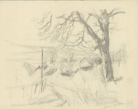 Frank Griffith (1889-1979) - 1935 Graphite Drawing, View of Cowfolld