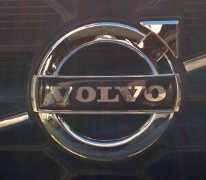 BLACK 135mm VOLVO Grill Badge Emblem Decal XC60, 2015+ S60, V60