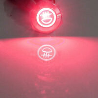Red 16mm 12V 3A LED Push Button Metal Toggle Switch Rear Fog Light Symbol Sales