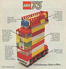 LEGO Prospekt 1973 97520 Spielzeugprospekt brochure toys broschyr brosjyre
