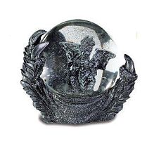 Stone Effect Dragon Claw Snow Globe Ornament