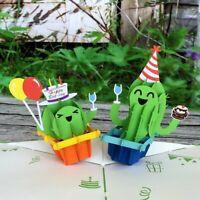Handmade Happy Birthday Cactus Pop Up Birthday Card