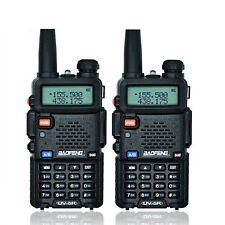 2x BaoFeng UV-5R VHF/UHF Dual Band PMR Radio 136-174 400-520 Mhz RICETRASMITTENT