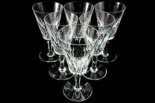 BACCARAT CARCASSONNE COLLECTIBLE FRANCE CRYSTAL 7 INCH WINE STEMWARE GLASS SET