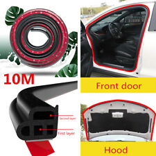 10M L Shape Double Layer Seal Strip Car Door Trunk Hood Rubber Weather Strip