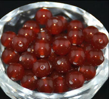 10mm Natural Red Jade Round Loose Beads Gemstone 39PCS AAA