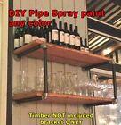 Rustic Industrial Furniture Vintage Iron Pipe Shop Shelf Wall Mount Shelving 014