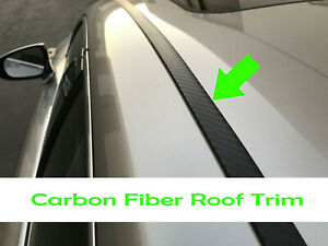 ForKa 2008-2018 Models 2pcs Flexible CARBON FIBER ROOF TRIM Molding Kit
