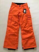 DC Shoes Boy's Banshee Snowboard Pants 10K Winter Orange Youth Size L-12