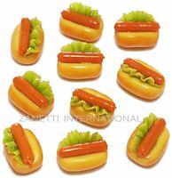 Set of 10 Dollhouse Miniature Hot Dogs * Doll Mini Tiny Fast Food Bakery Sausage