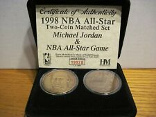 Highland Mint Michael Jordan 1998 NBA All-Star Two Coin Matched Set
