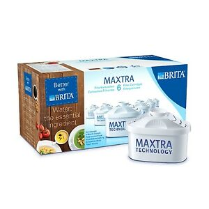 BRITA MAXTRA +New Water Filter Jug Refills Genuine Replacement Cartridges 6 Pack