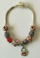 Silver Charm Bracelet with 9 Charms