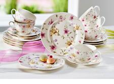 Kaffeeservice Service Kaffee New Bone China Porzellan Lilien Dekor Lilly 18tlg