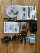Canon PowerShot SD1300 IS 12.1MP Digital Camera Silver w/ chgr,batt, cables