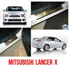 Door Sill Scuff Plate Guards For Mitsubishi Lancer X 2007- Threshold Protectors